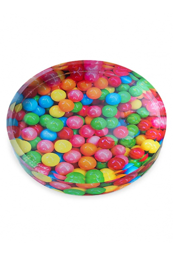 "by robynblair Gumballs Oversized Candy Dish - 11.5"" diameter x 1.5"" thick"