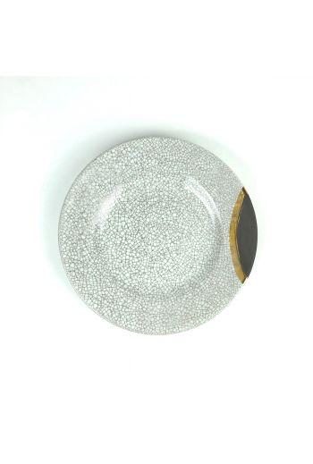 "Wainwright Raku Gold Salad Plate - 9.25"" diameter"