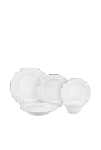 Joseph Sedgh Antique Bone 20 Piece Bone China Dinnerware Set - Service for 4