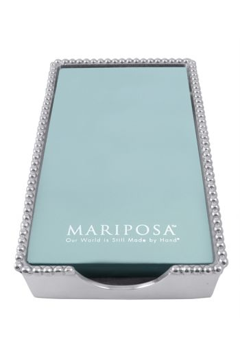 Mariposa BEADED GUEST TOWEL HOLDER WITH INSERT