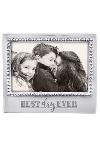 Mariposa BEST DAY EVER BEADED 4X6 STATEMENT FRAME