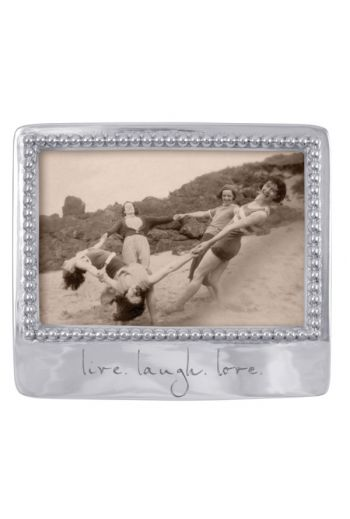 Mariposa LIVE. LAUGH. LOVE. BEADED 4X6 FRAME