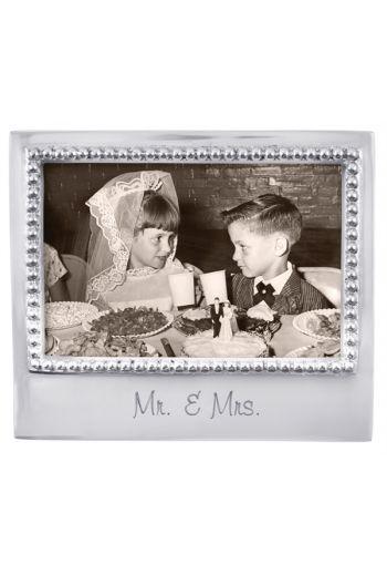 Mariposa MR. & MRS. BEADED 4X6 FRAME