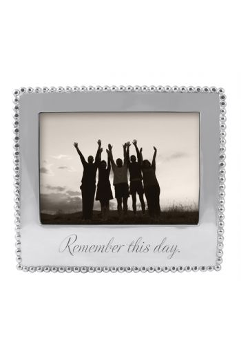 Mariposa REMEMBER THIS DAY BEADED 5X7 FRAME