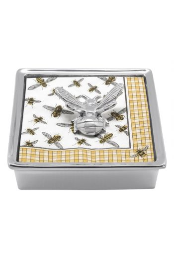 Mariposa HONEYBEE SIGNATURE NAPKIN BOX