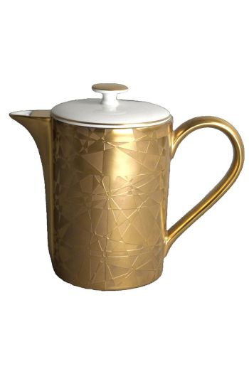 J.L. Coquet Diamond - Gold Incrustation Coffee/Teapot