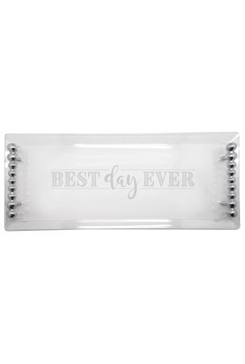Mariposa BEST DAY EVER BEST DAY EVER PEARLED ACRYLIC TRAY