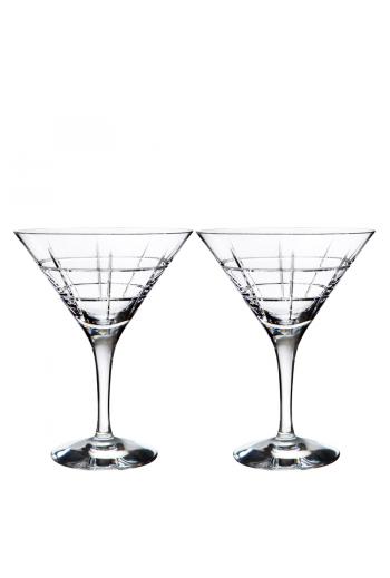 Orrefors Street Martini (pair)