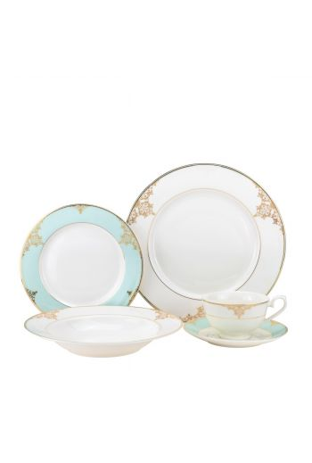 Joseph Sedgh Aegean Sea 20 Piece Bone China Dinnerware Set - Service for 4