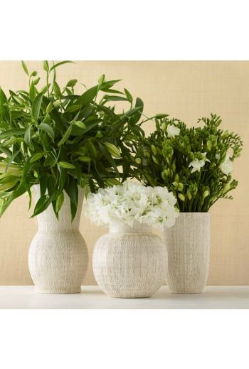 AERIN Amelie Vase - Available Color: White in 6 Shapes