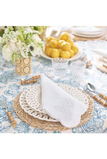 """AERIN Paulette Cream Dinner Plate  D11.4"""""""