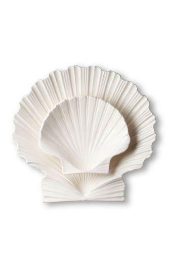 "AERIN Shell Cream Platter, Medium   L9.6"" x W8.3"" x H2.4"" - Available in 2 Colors"