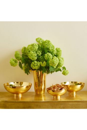 "AERIN Sintra Large Footed Bowl 9.0"" x 9.0"" x 4.0"" - Available Color: Gold in 3 Sizes"