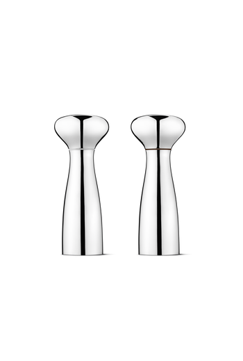 Georg Jensen Alfredo Salt And Pepper Shakers,  Mirror Polished Stainless Steel - H: 7.87 inches