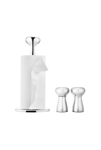 Georg Jensen Alfredo Table Set, Kitchen Roll Holder & Salt & Pepper Mirror Polished Stainless Steel