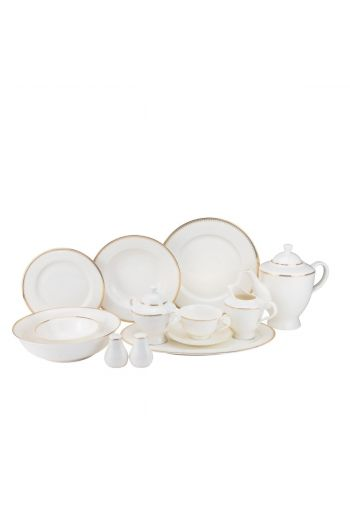 Joseph Sedgh Amanda 57 Piece Bone China Dinnerware Set - Service for 8