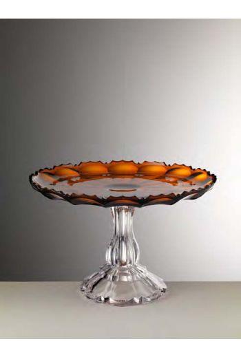 Mario Luca Girasole Cake Plate Amber