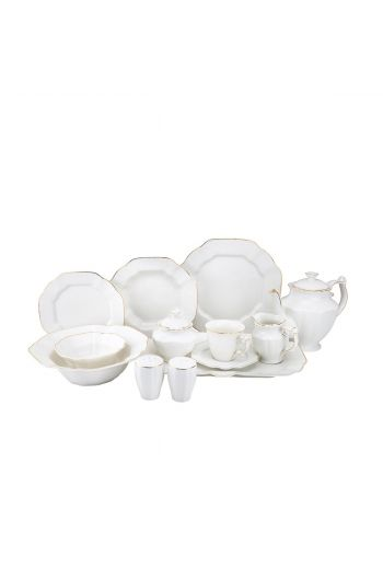 Joseph Sedgh Antique Bone 57 Piece Bone China Dinnerware Set - Service for 8
