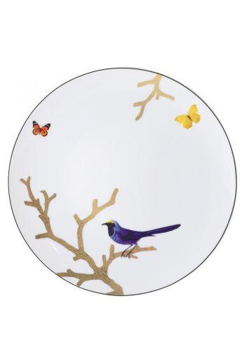 "Bernardaud Aux Oiseaux Coupe Dinner Plate - 10.5"""