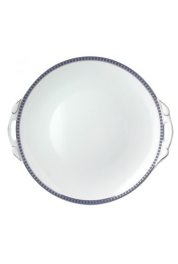 """Bernardaud Athena Navy Handled Cake Plate Round -  Measures 11"""" diameter"""