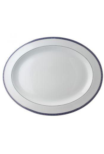 "Bernardaud Athena Navy Oval Platter - 17"""