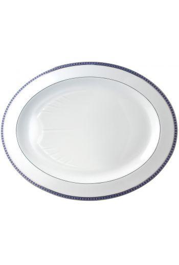 "Bernardaud Athena Navy 15"" Oval Platter"