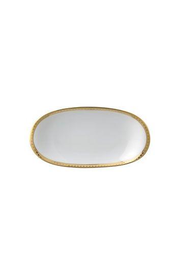 """Bernardaud Athena Or Relish Dish - 9"""" x 5"""""""