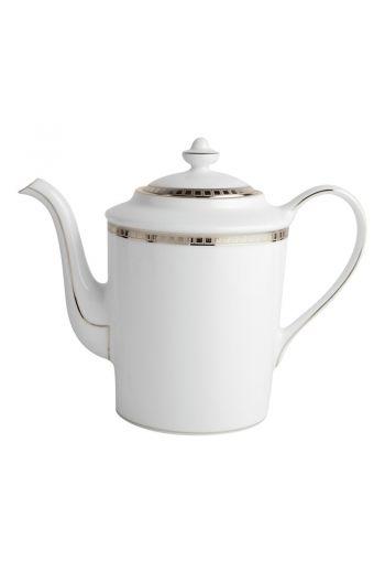 Bernardaud Athena Platinum Coffee Pot - 12 cup