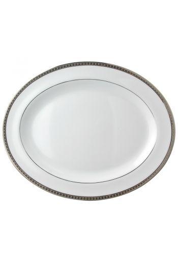 "Bernardaud Athena Platinum Oval Platter - 13"""