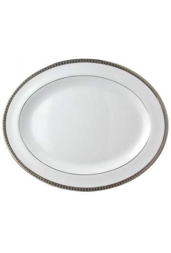 "Bernardaud Athena Platinum Oval Platter - 17"""