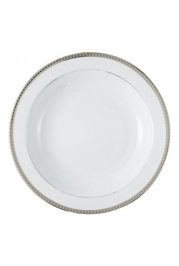 "Bernardaud Athena Platinum Deep Round Dish - 11.5"""