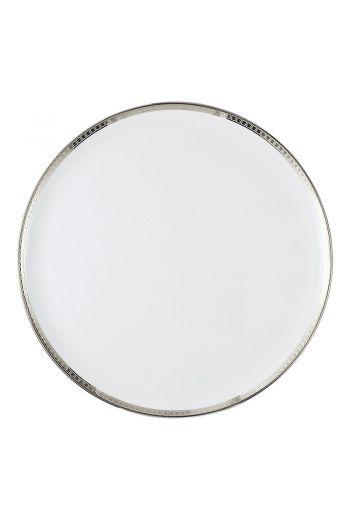 "Bernardaud Athena Platinum Tart Round Platter - 13"""