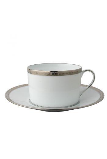 Bernardaud Athena Platinum Espresso Cup and Saucer - 2.7 oz