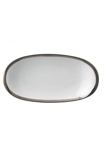 """Bernardaud Athena Platinum Relish Dish - 9"""" x 5"""""""