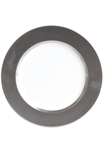 "Bernardaud Athena Studio Platinum Service Plate - 11.5"""