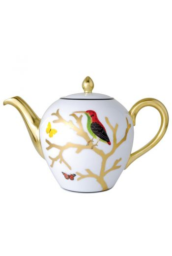 Bernardaud Aux Oiseaux  12cup Teapot - 42 oz