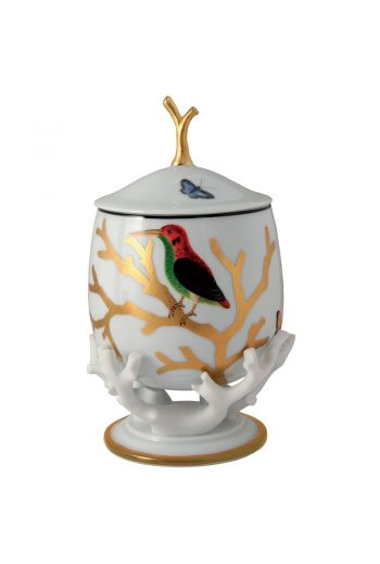 Bernardaud Aux Oiseaux Covered Box on Stand