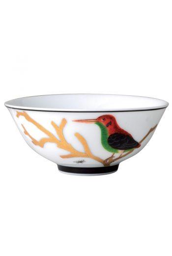 """Bernardaud Aux Oiseaux Rice Bowl - 4.7"""""""