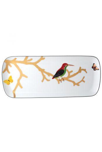 "Bernardaud Aux Oiseaux  Rectangular Cake Platter - 16"""