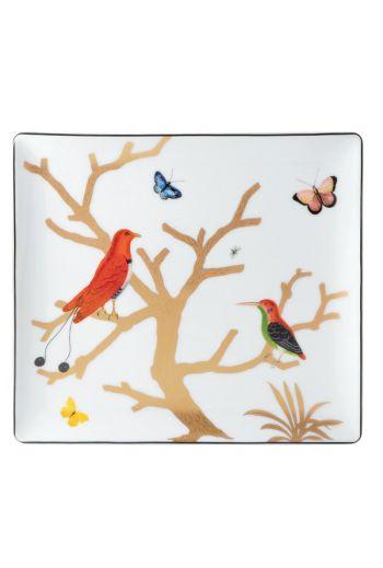 "Bernardaud Aux Oiseaux Rectangular Tray - 8.7"" x 7.7"""