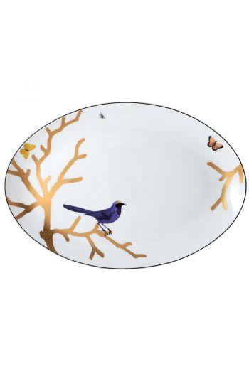 "Bernardaud Aux Oiseaux  Oval Platter - 15"""