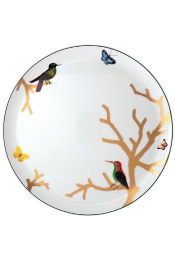 "Bernardaud Aux Oiseaux Round Tart Platter - 13"""