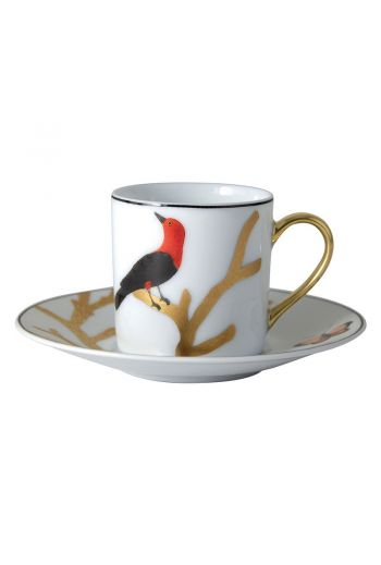 Bernardaud Aux Oiseaux Espresso Cup and Saucer
