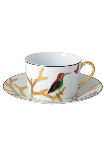 Bernardaud Aux Oiseaux  Breakfast Cup & Saucer, Set of 2 - 9 oz
