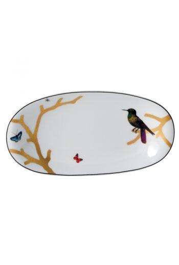 """Bernardaud Aux Oiseaux Relish Dish - 9""""x 5"""""""
