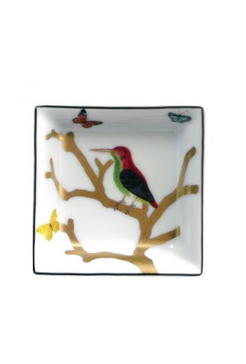 Bernardaud Aux Oiseaux Small Square Dish