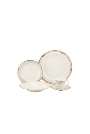 Joseph Sedgh Floral Blush 20 Piece Bone China Dinnerware Set - Service for 4