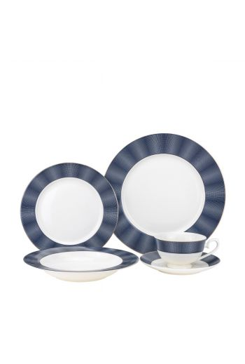 Joseph Sedgh Bentley Cobalt 20 Piece Bone China Dinnerware Set - Service for 4
