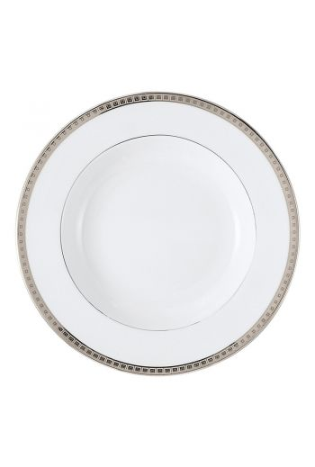"ATHENA PLATINE Rim soup plate 9"""