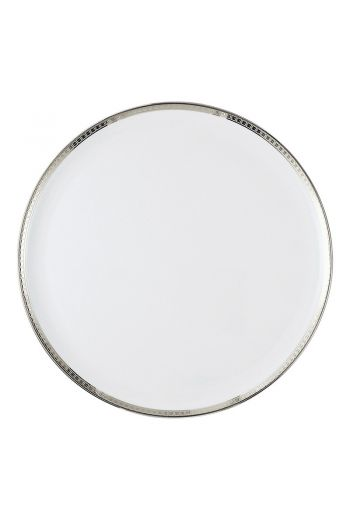 ATHENA PLATINE Cake plate with handles 11""